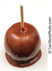 Carmel Apple Close Up - A traditional caramel apple shot...