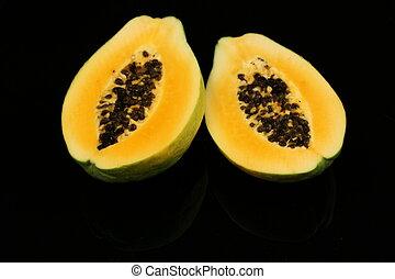 Papaya Fruit Close Up