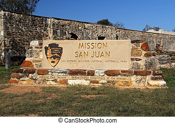 Entrance to Mission San Juan in San Antonio Missions...