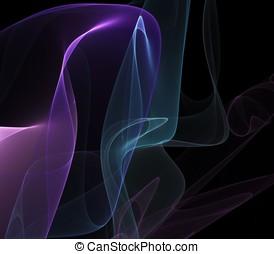 Layered Sheer Abstract - Layered, rippling, colorful sheer...