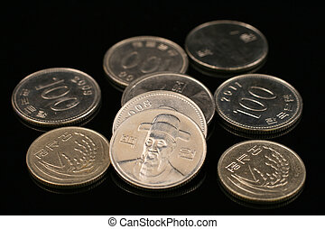 South Korean Won Coins - A close up of South Korean won...