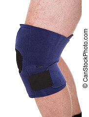 A Person Wearing Knee Brace Over White Background