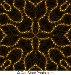 Symmetrical Filaments Abstract - Decorative, golden...