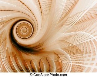 Spin and weave Abstract - Brown spinning design (computer...