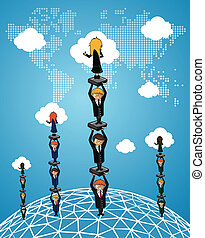 Global Business teamwork success people - Global Business...