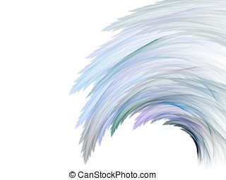 Flowing Wisp - Hues of blue form a wispy wave design...