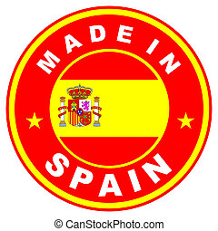 made in spain - very big size made in spain label...