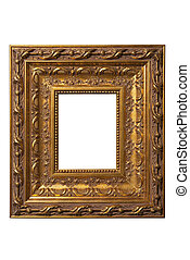 square art picture frame on white background