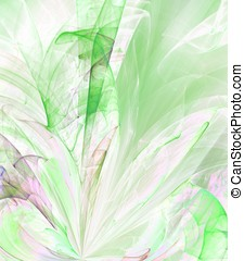 Rippling Greens Abstract - Rippling green, texture layers -...