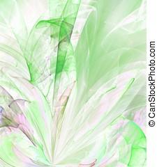 Rippling Greens Abstract