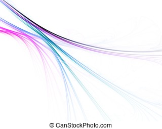 Flowing Lines against White - Soft, colorful flowing lines...