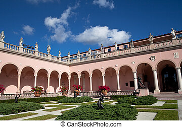Wealthy estate of Ringling Museum view