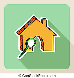 Sketch style real estate search concept. - Hand drawn real...