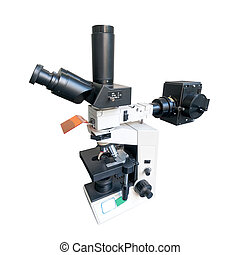 microscope isolated on white with clipping path