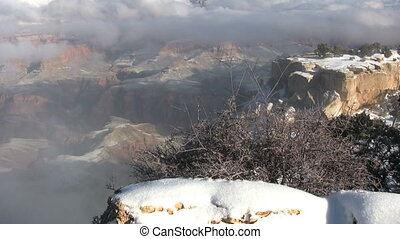 Winter Snow at Grand Canyon - the grand canyon covered in...
