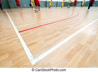 Wooden basketball court Indoor sports playground