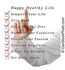 Happy healthy life