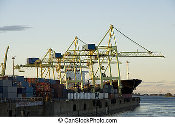 Container Cranes at Work