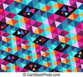 Trendy hipster geometric elements - Vintage colorful,...