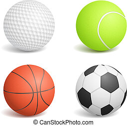 Sport Balls - Set of four sport balls, vector eps10...