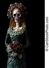 Catrina Calavera known as the Elegant Skull Dia de los...