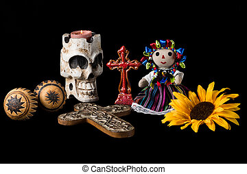 Day of the Dead Alter - Traditional Day of the Dead Dia de...