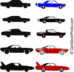 muscle cars - cars from sixties and seventies