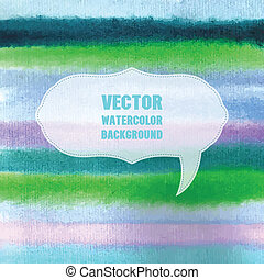 Watercolor vector background with place for your text Pastel...
