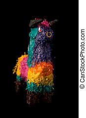 Mexican Bull Pinata - Colorful Mexican pinata decorated as...