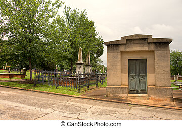 Historic Springwood Cemetery in Greenville, South Carolina