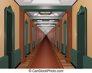 Never Ending Art Deco Corridor - Never ending Art Deco...