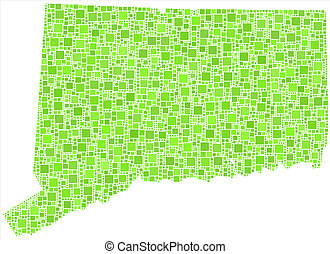 Isolated map Connecticut - USA -