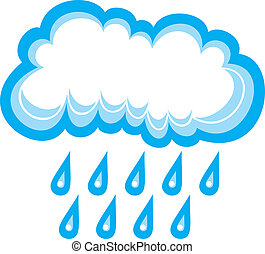 cloud and rain (white cloud, cloud icon, cloud and rain...