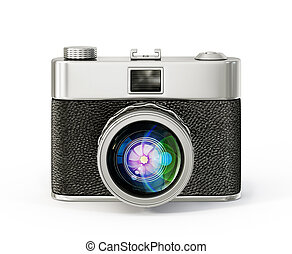 camera - retro camera isolated on a white background
