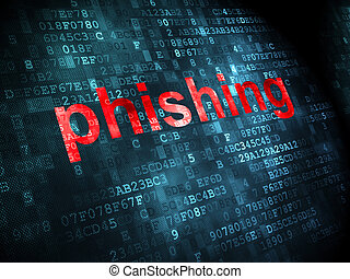 Safety concept: Phishing on digital background - Safety...