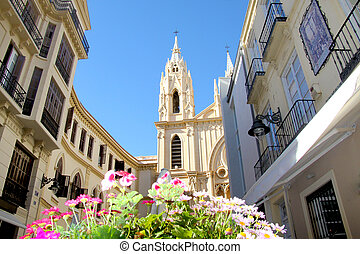 Santo Christo Church in Malaga - The entrance of Santo...