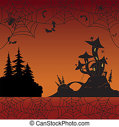 Holiday Halloween landscape