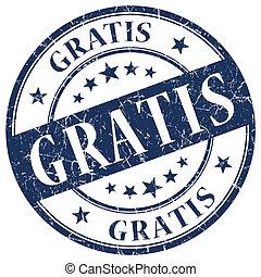 GRATIS Blue stamp