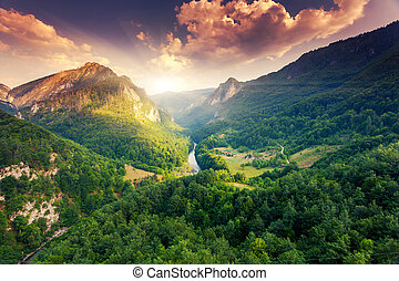 canyon - Fantastic view Tara river gorge - is the second...