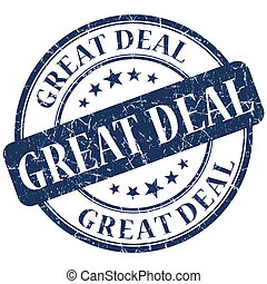 GREAT DEAL Blue stamp