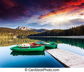 lake - Black lake in Durmitor national park in Montenegro....