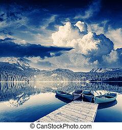lake - Black lake in Durmitor national park in Montenegro....