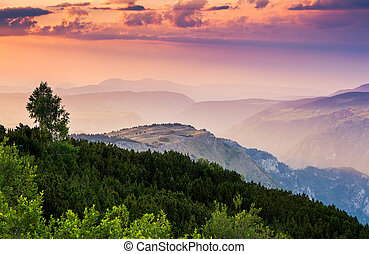 sunset - Fantastic view Tara river gorge - is the second...