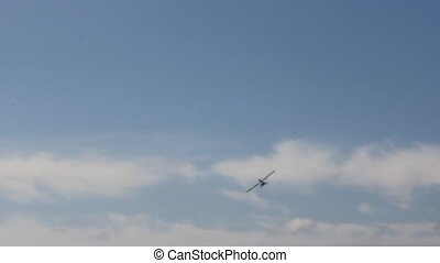 Propeller airplane in the sky 8981_02