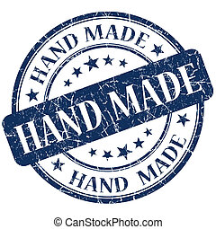 Hand Made blue stamp