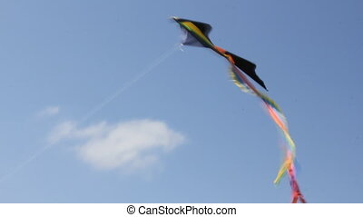 Kite flying under blue sky 8976