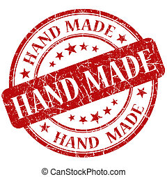 Hand Made Red stamp