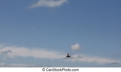 Helicopter in the sky 8963