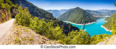 reservoir - The Piva Canyon with its fantastic reservoir...