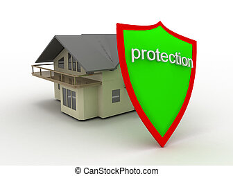 shield and house - shield nd house